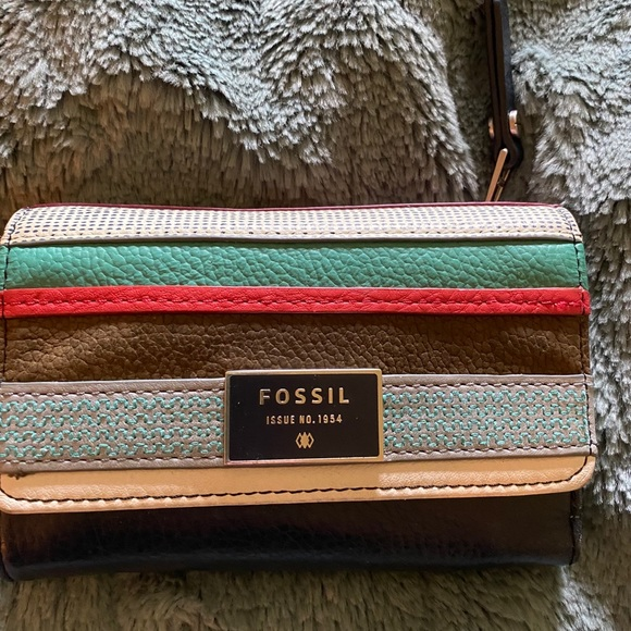 FOSSIL Navy & Multicolored Wallet